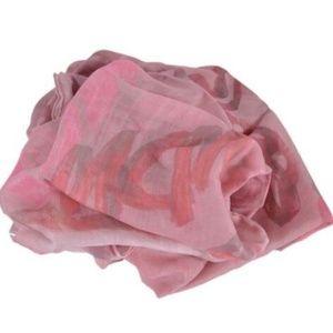 NWT MCM Large Pink Silk Modal Jacquard Scarf